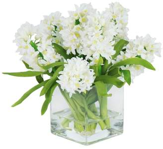 Pottery Barn Faux Hyacinth in Square Glass