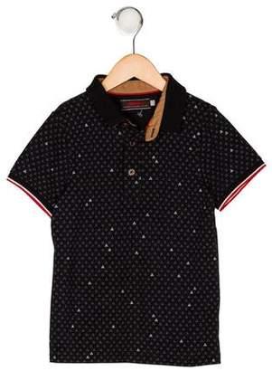 Catimini Boys' Printed Short Sleeve Shirt