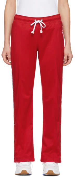 Champion Reverse Weave Red Straight Hem Lounge Pants