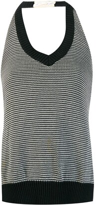 Maison Margiela Pre-Owned backless knitted top