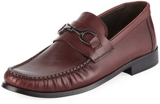 Bruno Magli Men's Praline Leather Slip-On Bit Moc Loafer
