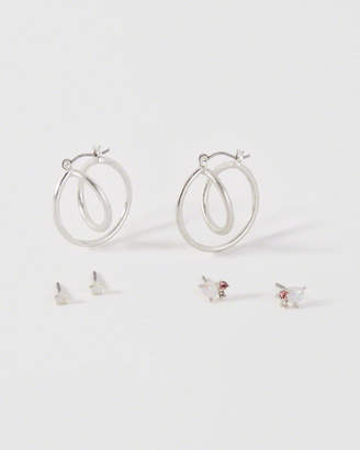 Abercrombie & Fitch Twisted Hoop Stud Earring Pack