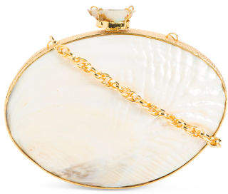Mother Of Pearl Shell Clutch