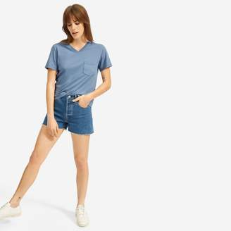 Everlane The Cotton Box-Cut V-Neck Tee