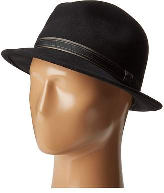 Country Gentleman Clooney Fedora Hat with Contrast Band Caps