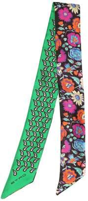 Etro Paisleyna Printed Silk Twill Scarf