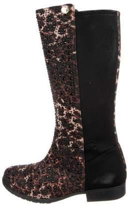 Stuart Weitzman Embellished Mid-Calf Boots
