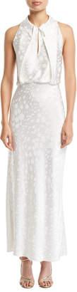 Zac Posen Satin Crepe Tea-Length Column Dress