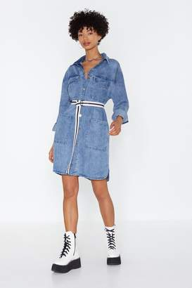 Nasty Gal Womens It'S Over-Sized Denim Shirt Dress - Blue - S/M, Blue