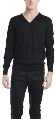 Simon Spurr Tonal Stripe V Neck Sweater