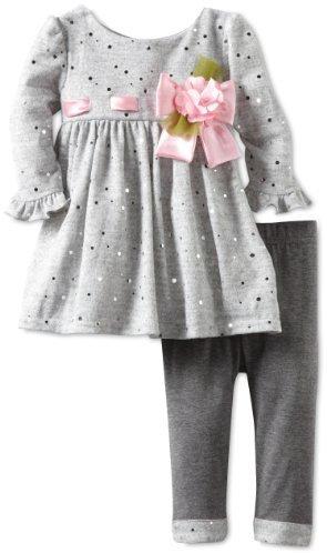 Sweet Heart Rose Baby-Girls Infant Sparkle Legging Set