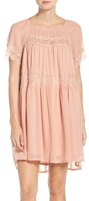 French Connection Lace & Chiffon Babydoll Dress $168 thestylecure.com