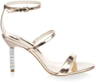 8764b73c2 Sophia Webster Rosalind Embellished-Heel Metallic Leather Sandals