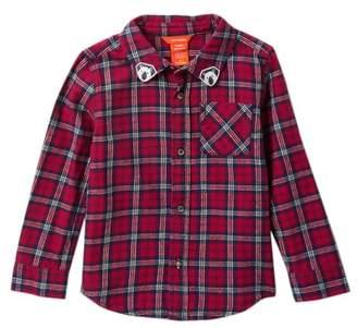 Joe Fresh Flannel Button Up Shirt (Toddler & Little Boys)
