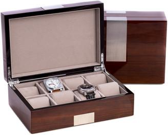 Bey-Berk Bey Berk Lacquered Watch Valet Box With Cufflink Holder