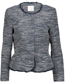 Joie Milligan Frayed Cotton-Blend Bouclé Peplum Jacket $378 thestylecure.com