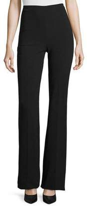 Theory Demitria Admiral Crepe Flare-Leg Pants $285 thestylecure.com
