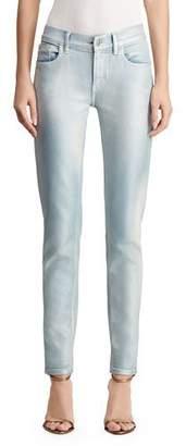 Ralph Lauren 400 Matchstick Bleached & Metallic-Coated Jeans