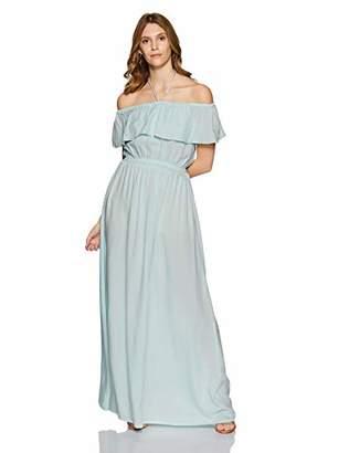 Boutique23 Womens Off Shoulder Halter Neck Color Maxi