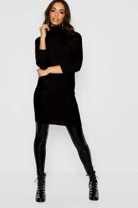 boohoo Longline Tunic With Roll Neck