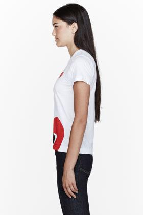 Comme des Garcons White Double Red Emblem T-Shirt