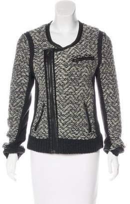 Rag & Bone Leather-Trimmed Wool Jacket w/ Tags