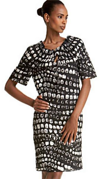 Thakoon Tribal Dot Drawstring Dress