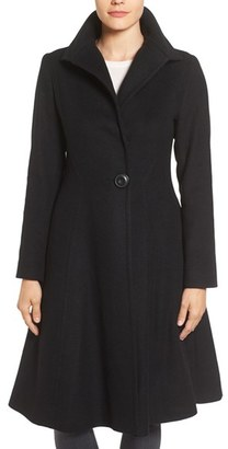 Women's Vera Wang Isabella Skirted Wool Blend Coat $450 thestylecure.com