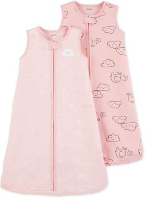 Carter's Baby Girls 2-Pc. Pink Cloud Cotton Sleep Bags Set