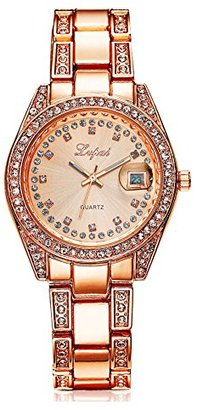 Rockyu ブランド 人気 時計 メンズ レディース おしゃれ サファイアガラス 海外ブランド ピンク キラキラ 腕時計