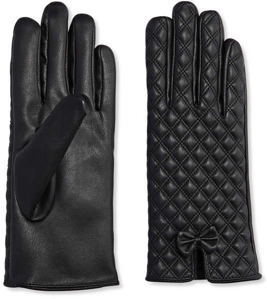 Joe Fresh Women's Quilted Faux Leather Gloves