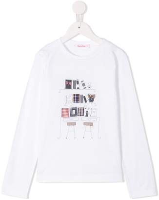Familiar graphic print long-sleeve top