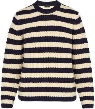 Joseph Striped chunky-knit wool sweater