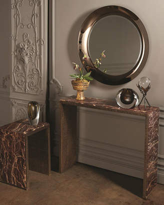 Global Views Waterfall Marble Console Table