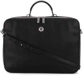 Tommy Hilfiger logo plaque laptop bag