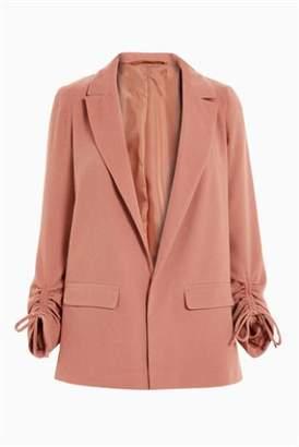 Next Womens Black Ruched Sleeve Jacket