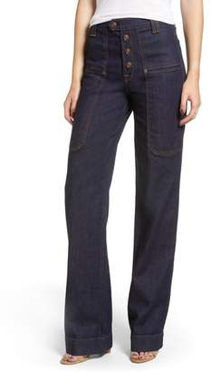7 For All Mankind Alexa Utility Wide Leg Jeans
