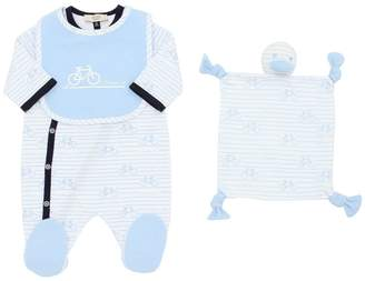 Armani Junior Cotton Jersey Romper, Bib & Toy
