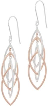 Sterling Silver Interlocking Marquise Drop Earrings by Silver Style