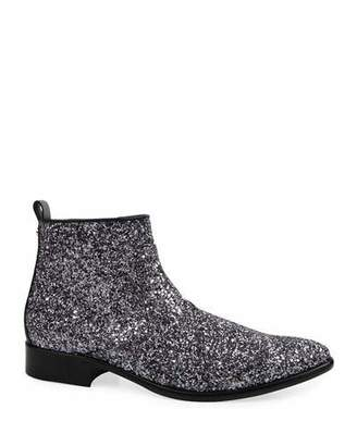 CNC Costume National Men's Glitter Side-Zip Ankle Boots