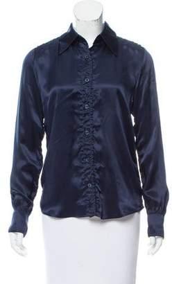 Reed Krakoff Silk Long Sleeve Blouse