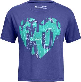 Under Armour Girls 7-16 Heart Graphic Tee