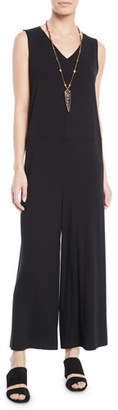Eileen Fisher Wide-Leg Viscose Jersey Jumpsuit, Plus Size