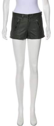 Rag & Bone Mid-Rise Leather Shorts