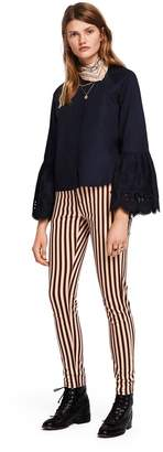Scotch & Soda Printed Trousers Mid rise skinny fit