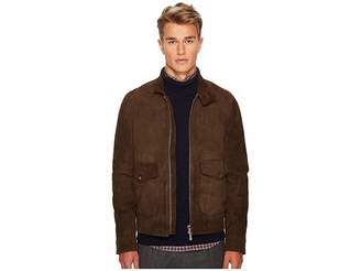 Eleventy Suede Bomber w/ Flap Pockets Men's Coat