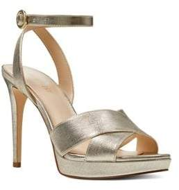 Nine West Quisha Metallic Leather Dress Sandals