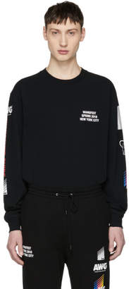 Alexander Wang SSENSE Exclusive Black Long Sleeve Sponsored High Twist T-Shirt