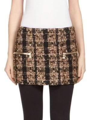Balmain Tweed Mini Skirt