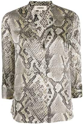 L'Agence 3/4 sleeve blouse